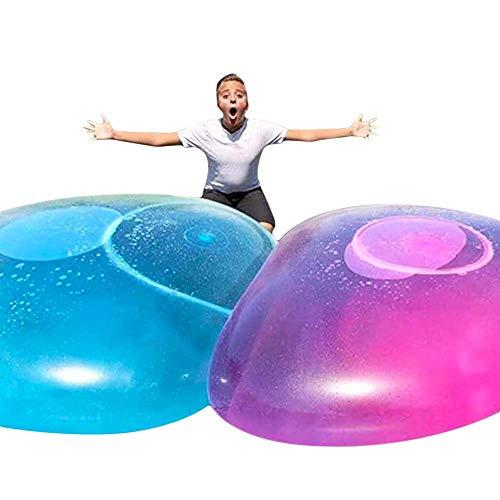 Demoke 20/27/47 Zoll Bubble Ball Wasserballon Spielzeug, übergroße Gummi Bubble Ball mit Wasser gefüllt, interaktive Super Fun Toys für Outdoor Beach Garden Party
