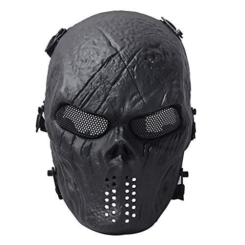 SXZX Mscara Protectora CS Halloween Airsoft Paintball Cara Completa Crneo Esqueleto Mscara De Cara Completa Cosplay Disfraz Fiesta Mscara