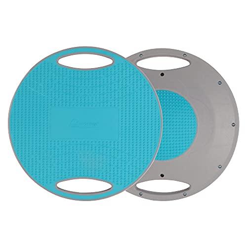 BIGTREE Balance Board con maniglie laterali, trottola terapeutica per fisioterapia, diametro 40 cm, parte inferiore e superiore antiscivolo, tavola per equilibrio, tavola oscillante (blue)