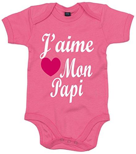 Edward Sinclair J'aime Mon Papi' 68-80 Rose bébé Bodysuit