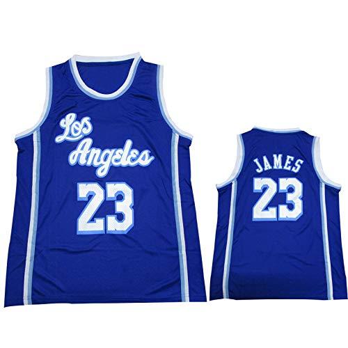 James Blue Basketball Sports Shirt 23#, Lakers Uniforme de Deportes para Hombre, Swingman Jersey Chaleco Team Competición Jersey, Ropa Deportiva Transpirable al Air XL