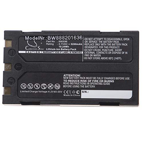 vhbw Batería compatible con Ridgid CA-100, CA-300, Micro CA-25, Micro CA-300, 37888, 40798 instrumento de medición (5200mAh 3,7V Li-Ion)