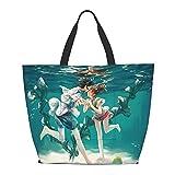 Spirited Away ogino chihiro bolsa de hombro multifuncional gran capacidad bolso tableta bolsas de semana bolsa de viaje bolsa playa