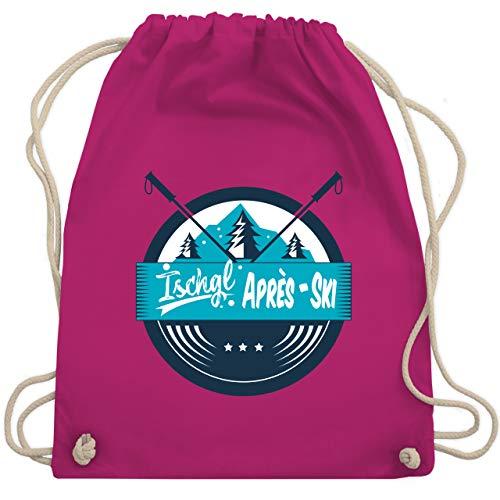 Après Ski - Après-Ski Ischgl - Unisize - Fuchsia - Snowboard - WM110 - Turnbeutel und Stoffbeutel aus Baumwolle