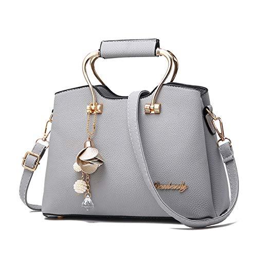 Vinteen Moda MS Big Bag Summer La Nueva versión Coreana Lady Bags Wild Bolso Bolsos de Hombro Simple Bolsa Crossbody Bolsa Tide Colgante Satchel (Color : Gray)