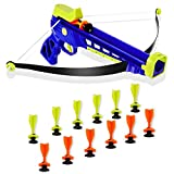 Goldboy Kids Crossbow Set, Archery Set with Bow and Arrows, Safe & Sturdy Toy Bow, 12 Suction Darts for Boys and Girls 8 to 12 Year Old