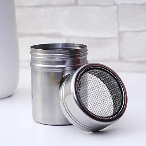 XIAOFANG 1pc in Acciaio Inox Cioccolato Shaker Cacao Farina Zucchero a Velo Polvere di caffè Setaccio Lid Shaker Strumenti di Cucina Accessori caffè