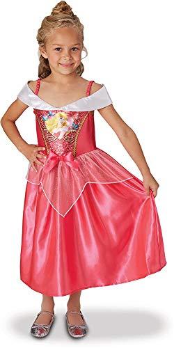 Princesas Disney - Disfraz de Bella Durmiente con lentejuelas para niña, infantil 7-8 años (Rubie's 641022-L)