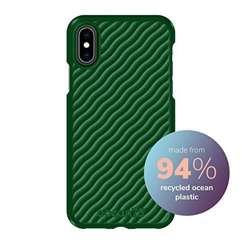 Ocean75 Umweltfreundlich Designed für iPhone X, iPhone XS Hülle, Ozean-inspirierte nachhaltige Handyhülle aus recycelten Fischernetzen - Schildkröte Grün