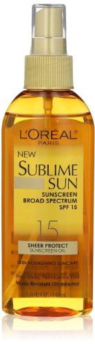 L'oreal Paris Sublime Sun Advanced Sunscreen Oil Spray SPF 15, 5.0 Ounce by L'Oreal Paris