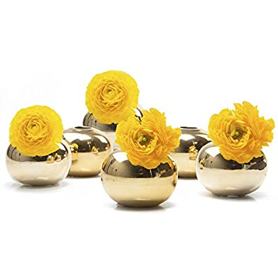 "Chive - Jojo Small 3"" Ceramic Flower Vase, Decorative Modern Vase for Home Decor Living Room Centerpieces and Events - Wholesale Bulk 6 Pack"