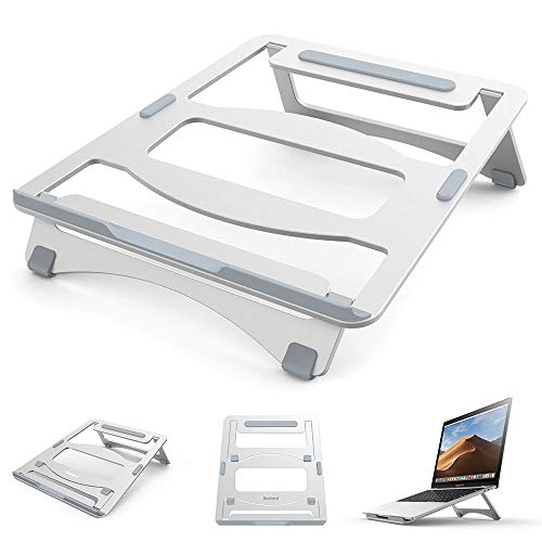 Hbche Laptop Stand Holder, Opvouwbare Portable Ventilated verstelbare laptopstandaard Computer Holder Desk opslag Compatibel met MacBook Air Pro, Huawei, HP, Samsung