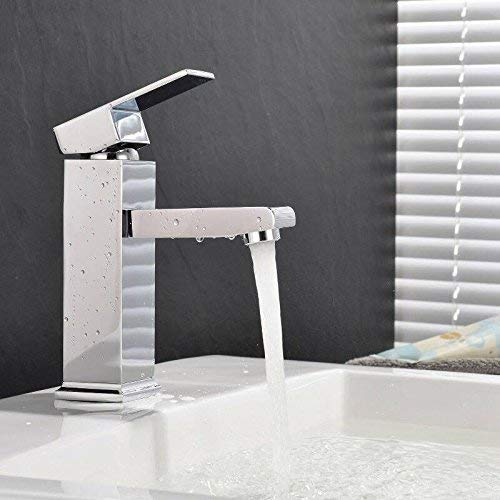 MVPower® Wasserhahn Waschtischarmatur Einhandmischer Waschbecken Bad Küche Armatur Messing verchromt massiv - 2