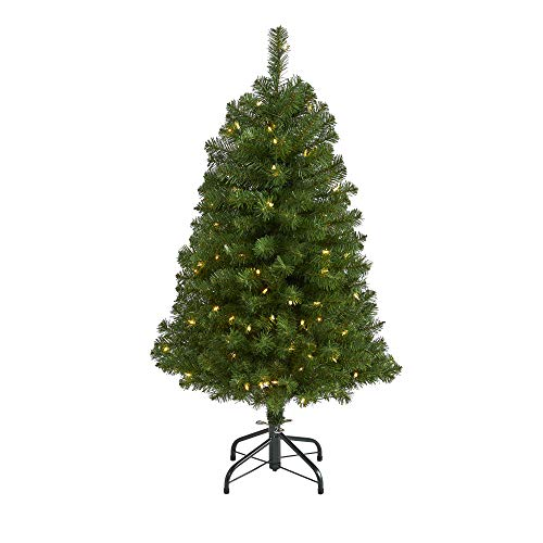 4ft. Virginia Fir Artificial Christmas Tree with 100 Clear Lights and 223 Bendable Branches
