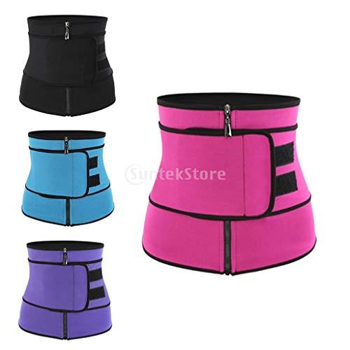 chiwanji 4pcs Womens Waist Trainer Corset Slim Waist Trainer Body Shaper Tummy Control Girdle Band Sports, Workout Trimmer Belt