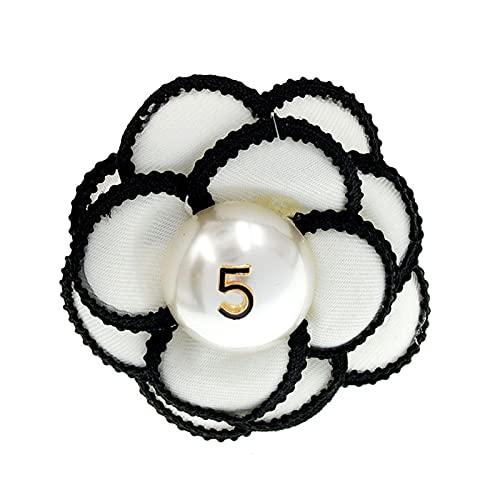 LNSTORE Broche de Flores de Alta Gama, Tela Vintage Camellia Broche Pin, 7.1cm * 7,3cm, Broche Señoras Mantón de Chal Accesorios de Collar Regalos, Joyas y Accesorios Elegante y con Estilo