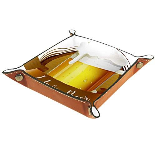 MUMIMI Schmuckschatulle, Aufbewahrungsbox für Ringe, Ohrringe, Schmuck, Ringhalter, Bier-Logo