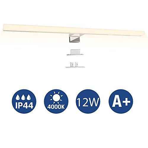 Led Spiegelleuchte Badezimmer, Infankey 3-in-1 Spiegelleuchte Bad 60CM 12W 800LM 4000K 220V, Wasserdicht IP44, Neutralweiß, Badlampe, Schminklicht, Schrankleuchte