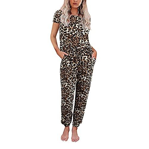 Se Puede Usar Fuera del Hogar Conjunto Mujer OtoñO E Invierno Estampado TeñIdo Anudado Pantalones De Manga Corta De Manga Larga Pijamas Divididos