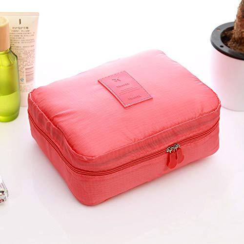 fabricant de sacs de voyage simple lavage de deuxième génération, sac de cosmétiques de grande capacité reçoit séparables,melon rouge