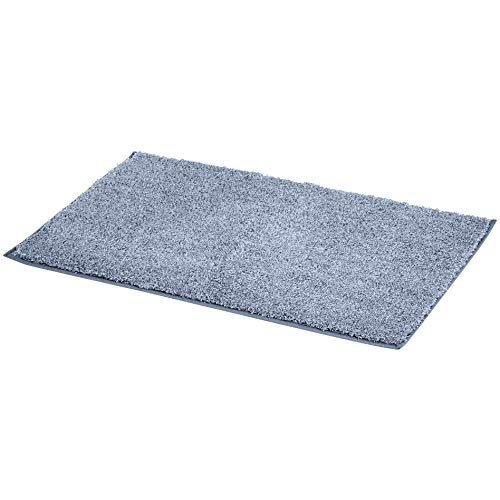 AmazonBasics 3 Piece Plush Bath Mat Set - Light Blue
