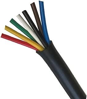 Heavy Duty 14 Gauge 7 Way Conductor Wire RV Trailer Cable Cord, 20'