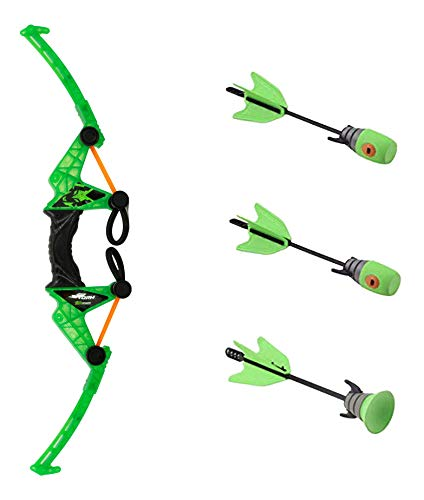 Zing Air Storm Z-Tek Bow - Green - Toy Bow and Foam Arrow Set - Fun Outdoor and Backyard Toy - Shoots Over 125 Feet! Great Gift for Boys and Girls