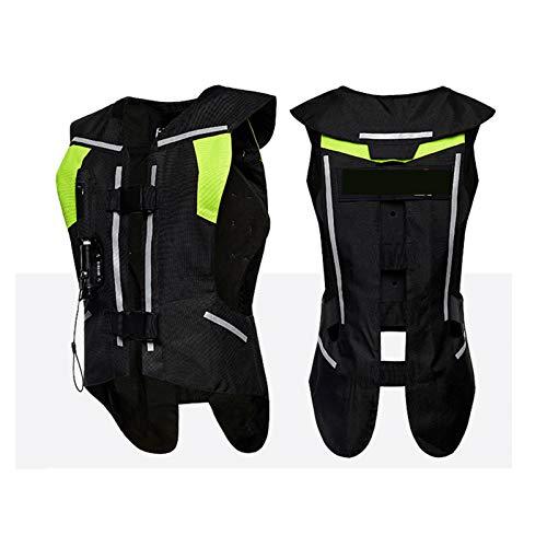 Fahrrad-Airbagweste Anti-Sturz-Reflexweste Für Lokomotive Airbag Geeignet Für Motorradfahren Und Reiten (Keine CO2-Gasflasche) Fahrradausrüstung (Color : F Black, Größe : M)
