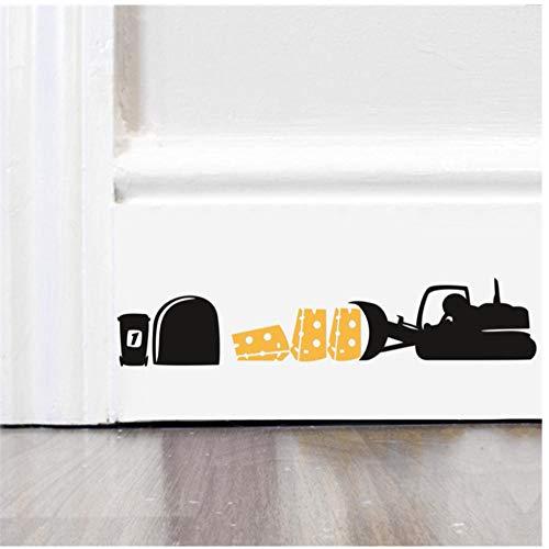 Annqing Maus-autostickers voor auto, vrachtwagen, kaas, muurstickers, voor keuken, woonkamer, decoratie, vinyl, huisdecoratie, dieren, muurkunst