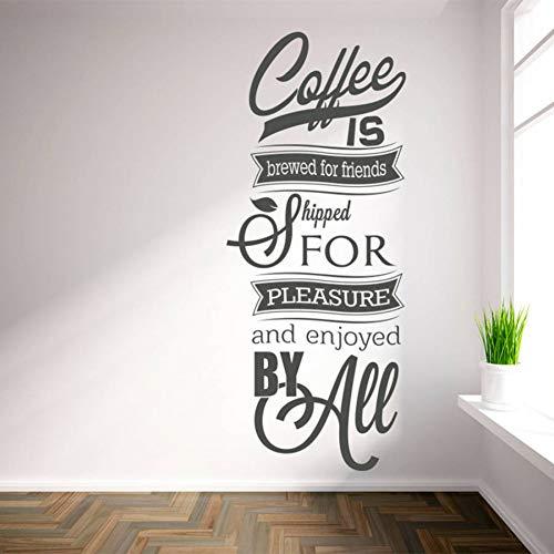 Wandaufkleber Dekorative Aufkleber Wand Dekoration Wandbilder Erhältlich In Zahlreichen Größen Wandtattoos 'Coffee Gebraut Für Freunde. Inspirierende Zitate Wandkunst Aufkleber Wohnzimmer