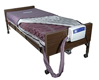 """Drive Medical Med Aire Low Air Loss Mattress Replacement System with Alternating Pressure, Dark Purple, 8"""""""