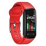 Rastreador de actividad de fitness con temperatura corporal Monitor de sueño de frecuencia cardíaca IP68 Pedómetro impermeable Pasos Calorías Contrarrestar reloj inteligente para hombres Mujeres adole