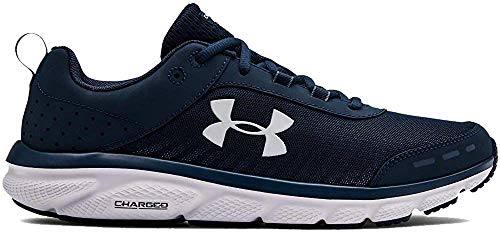 Under Armour Men's Charged Assert 8 Running Shoe, Academy Blue (401)/White, 9