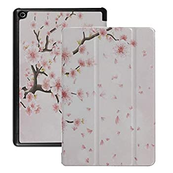 QIYI Kindle Fire 8 Case Floral Kids Protective Standing Cover for HD 8 Tablet with Auto Wake/Sleep  6th / 7th / 8th Gen 2016/2017 / 2018 Release  [NOT for 2020 Fire HD 8 Tablet] - Cherry Blossom