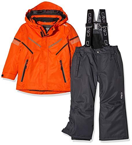 CMP Jungen Skiset Jacke und Hose 39W1844 Set, Red Orange, 128(M)