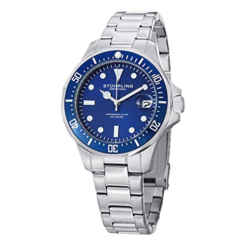 Stuhrling Original Aquadiver Mens Dive Watch - Quartz Analog...