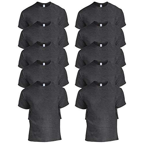 Gildan Heavy Cotton Adult T-Shirt, Grigio (Dark Heather), M Uomo