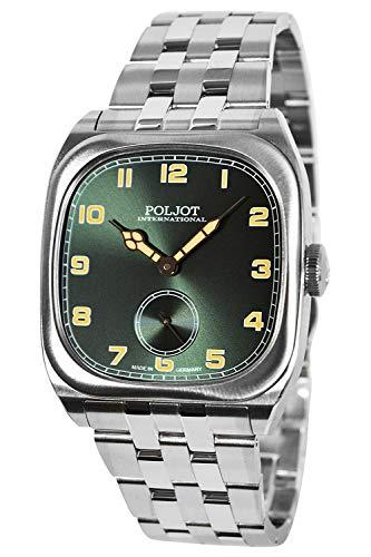 Poljot International Herrenuhr Handaufzug Bolshoi Vintage Grün 2760.1000115B