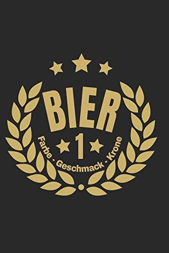 Bier – Farbe – Geschmack – Krone: A5 Bierverkostungsbuch für deine Lieblingsbiere mit Inhaltsverzeichnis für 100 Biere und Bewertungssystem   Softcover