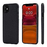 pitaka MagEZ Case, ultradünn, magnetische Hülle für iPhone 11 (6,1') Handyhülle aus Aramidfaser,...