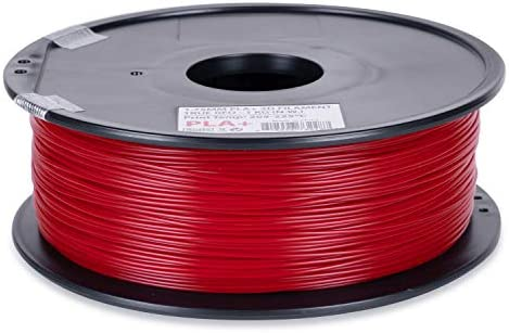 Inland 1 75mm True Red PLA PRO PLA 3D Printer Filament 1KG Spool 2 2lbs True Red product image