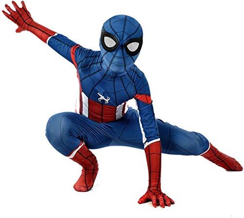 Disfraz de Cosplay de Spiderman para Adultos, nios, Mono Azul, Mono 3D, Mono de Licra, Mono Ajustado, Juego de Anime, Ropa de rol-180