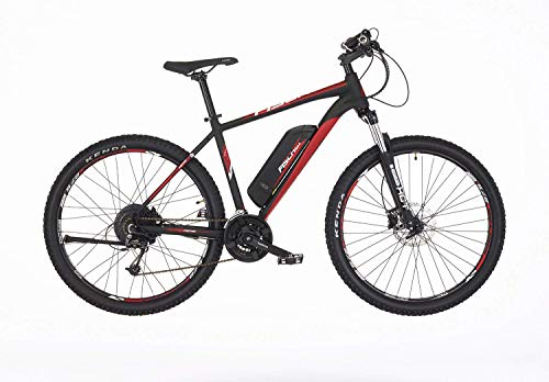 Fischer E-Mountainbike EM 1726, E-Bike MTB, schwarz matt, 27,5 Zoll, RH 48 cm, Hinterradmotor 45 Nm, 48 V Akku