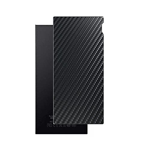 VacFun 2 Piezas Protector de pantalla Posterior, compatible con FiiO M7 FIO-M7, Película de Trasera de Fibra de carbono negra Skin Piel