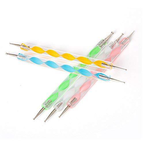 Artlalic Lot de 5 stylos à pointiller pour nail art