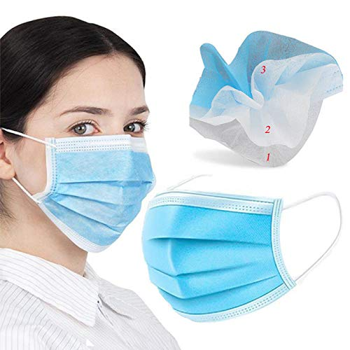 Preisvergleich Produktbild 50 Stück Vlies Einweg 3 Lagen Staubschutzfilter Elastic Facial Ear Hangin Supplies 50_Pcs