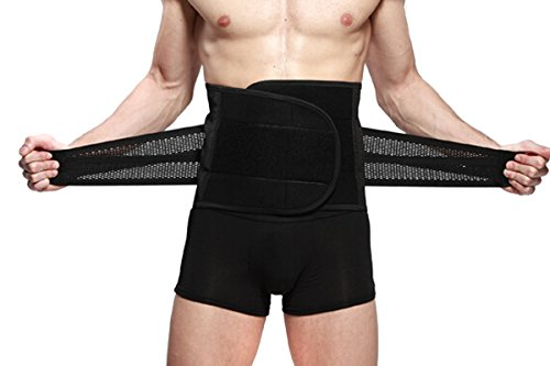 """ieasysexy New Style Adjustable Breathable Trimmer Belt,Tummy Fat Burning Slimming Belt,Body Shaper Slimming Tummy Waist Trainer,Lose Weight Fast,Helps Lose Post Boby Weight,Best Waist Trimmer Beer Belly for Men,Size L(31.5""""-35.4"""")"""