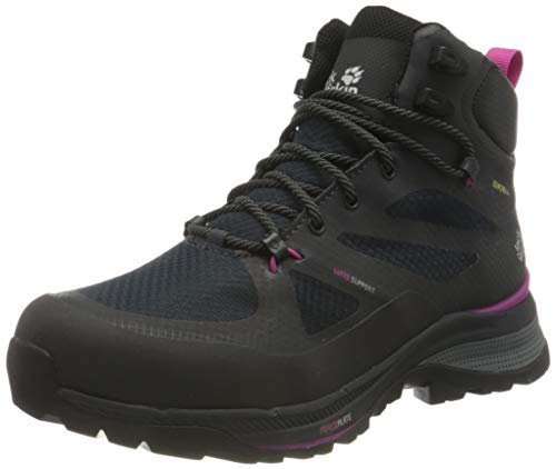 Jack Wolfskin Damen Force Striker Texapore MID W Wanderschuhe, Phantom/pink, 41 EU