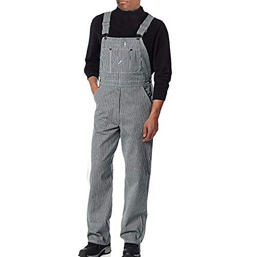 LASPERAL Herren Latzhose Arbeitshosen Jeans Jumpsuit Overall Männer Denim Hosen Lässige Retro Combat Cargo Latzhose Stonewash Dungaree Denim Overalls Latzjeans Relaxed Fit