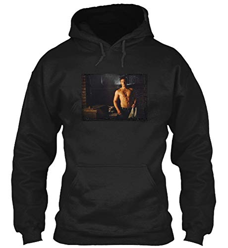 #Jensen Ackles - #Supernatural Bare Chest Over Arm Hoodie Gift for Men Women Black